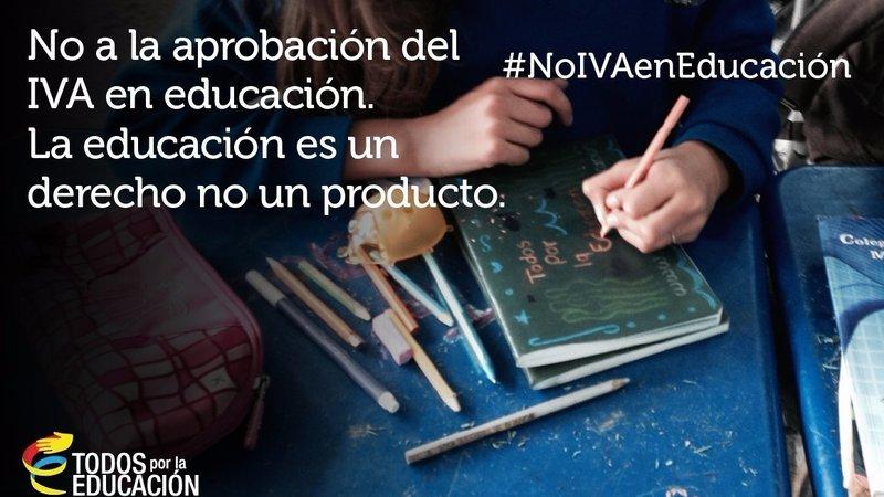 Firmatón para no aplicar el IVA a la educación